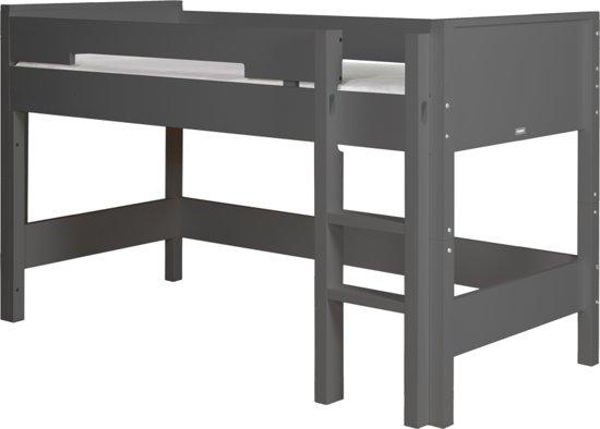 Bopita - Halfhoogslaper 90 x 200 cm Rechte Trap - Combiflex - Deep Grey