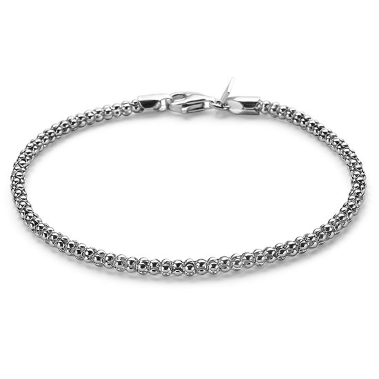 Twice As Nice Armband in zilver, holle slangketting  20 cm