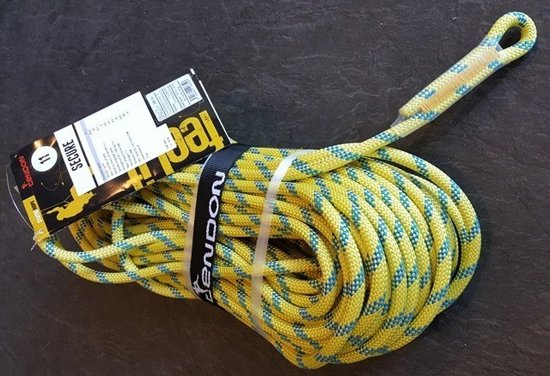 Tendon Static SECURE 11 mm, 1 x aangenaaid oog 50 meter.