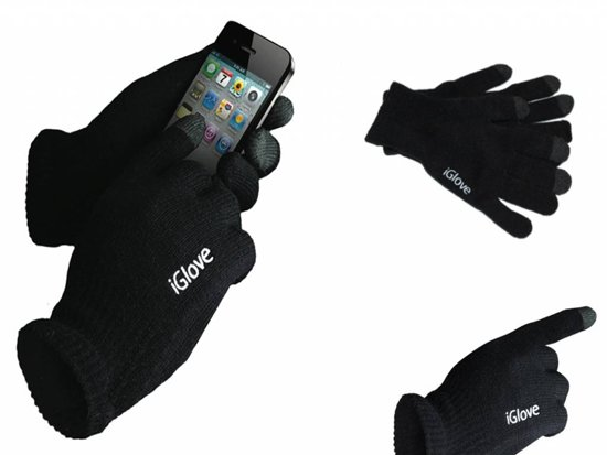iGlove Touchscreen Handschoenen, Onmisbaar in de winter - iGlove by i12cover - Kleur Zwart