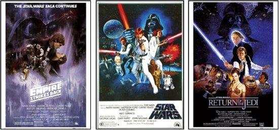 Posters-Star Wars-Poster set-3 posters-Aanbieding-61x91.5cm.