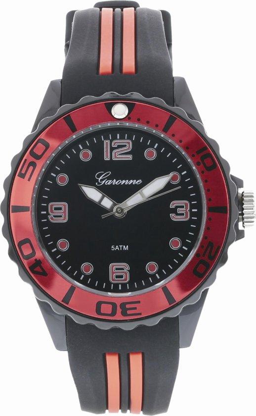 Garonne Kids horloge Zwart/Rood KQ28Q445