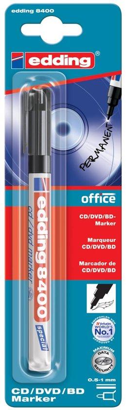 20x Edding permanent marker voor CD/DVD/BD e-8400 zwart, op blister