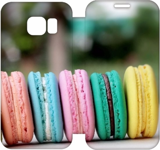 Hip Design Hoesje Macarons Samsung Galaxy S6 Edge in Heide