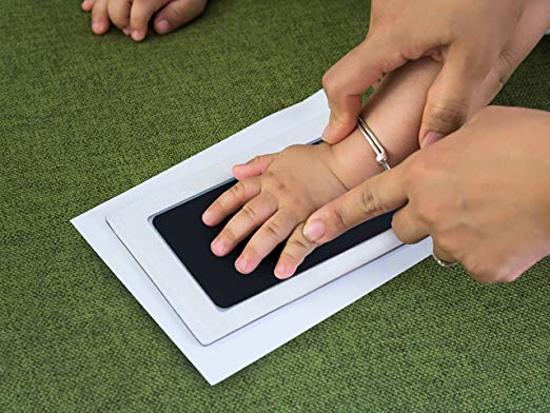 Baby Voetafdruk en Baby Handafdruk Inkt - Geschenkset (zwart)