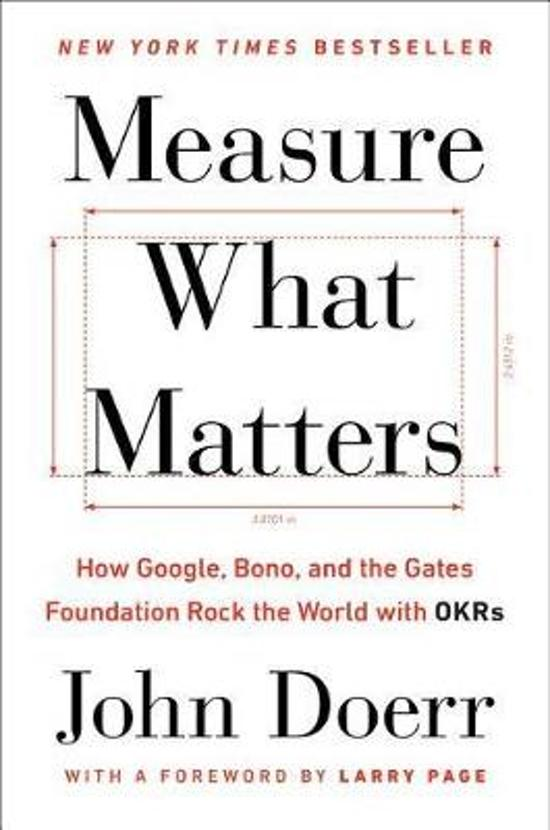 Boek cover Measure What Matters van John Doerr (Hardcover)