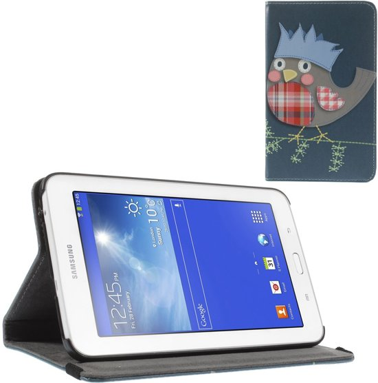 Samsung Galaxy Tab 3 Lite 7.0 Hoesje Stand Case Vogeltje in Termaar