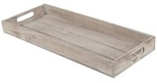 Natural Collections Dienblad hout met handvat 44x18x4cm