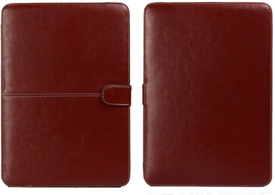5b7b48b0d3a bol.com   Leren MacBook Air 13 inch cover sleeve - Bruin