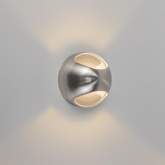 QAZQA Ojo - Wandlamp - 1 Lichts - 13 cm - chroom