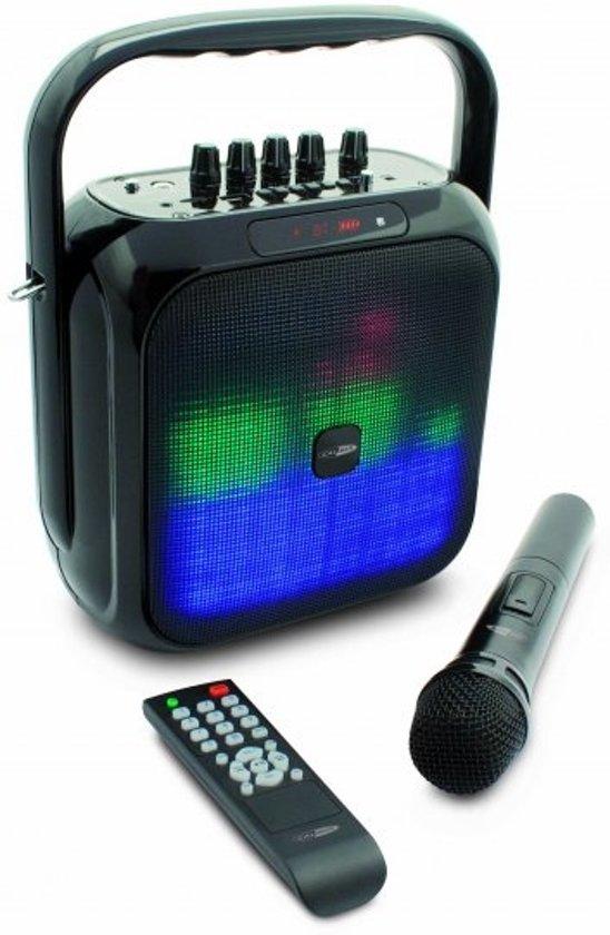 Caliber HPG516BTL - Party speaker met led verlichting en accu - Zwart