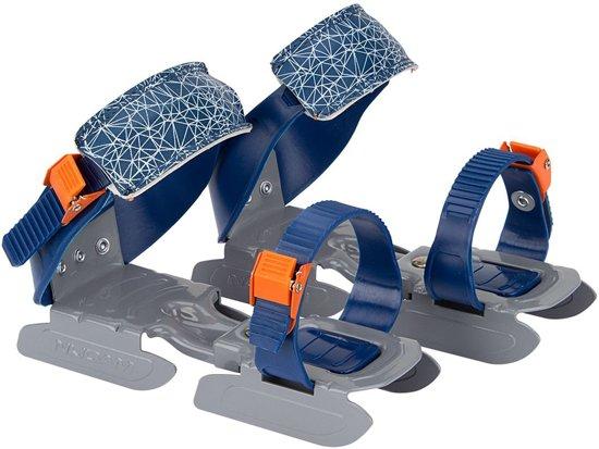 Nijdam Junior Glij-ijzers Verstelbaar - Pinguin - Marine/Grijs/Oranje