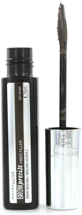 Maybelline - Brow Precise Fiber Filler - 06 Deep Brown - Wenkbrauwmascara