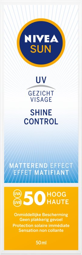 NIVEA SUN Face Shine Control Matterende Creme SPF 50 - 50 ml