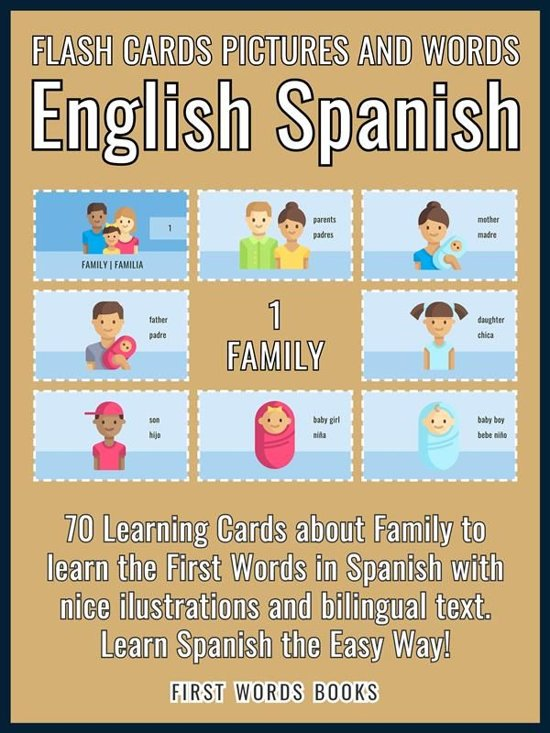 1 - Family - Flash Cards Pictures and Words English Spanish