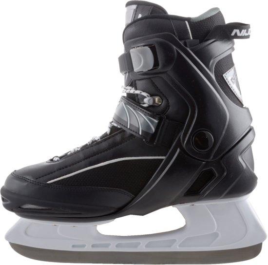 Nijdam 3350 IJshockeyschaats - Semi-Softboot - Zwart/Wit - Maat 42