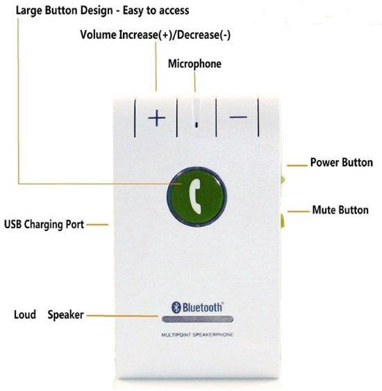 Premium Bluetooth 4.0 handsfree carkit - Bestseller! in Lent