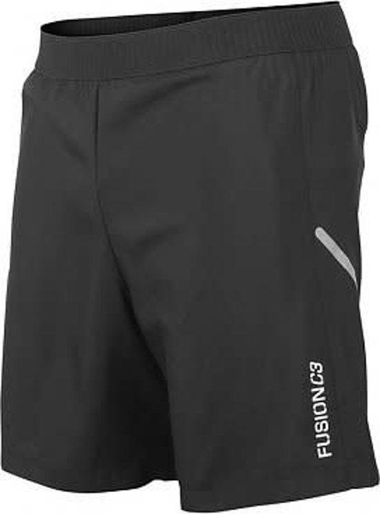 Fusion C3 Run Shorts Zwart Unisex