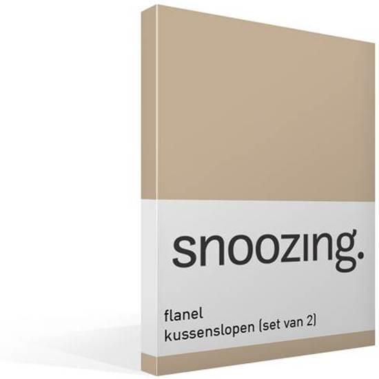 Snoozing flanel kussenslopen (set van 2) Camel 60x70 cm (35 camel)