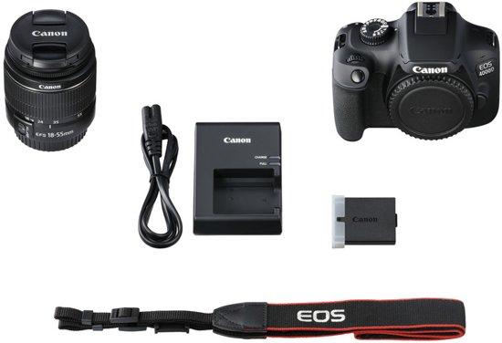 Canon EOS 4000D + 18-55mm DC - Zwart