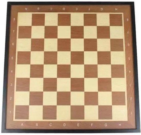 Afbeelding van het spel Abbey Game Schaakbord met Rand - Deluxe - Bruin