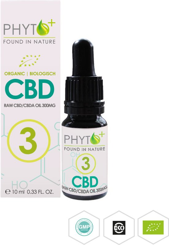 CBD Olie PHYTO+ Biologisch 3%, 300mg