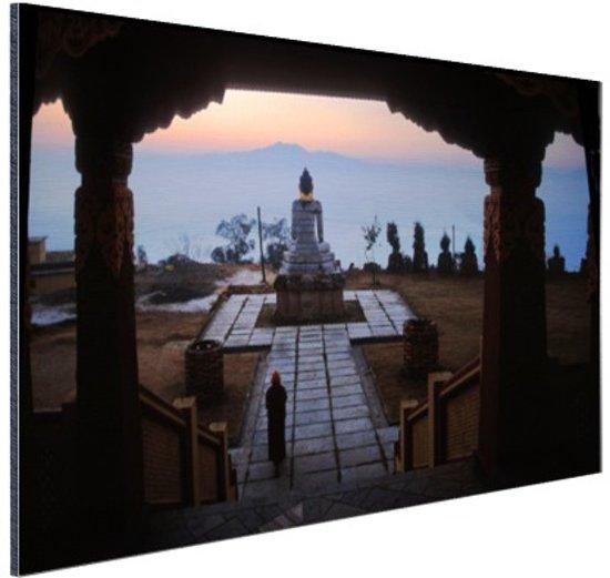 Klooster van Osel Ling Nepal Aluminium 90x60 cm - Foto print op Aluminium (metaal wanddecoratie)