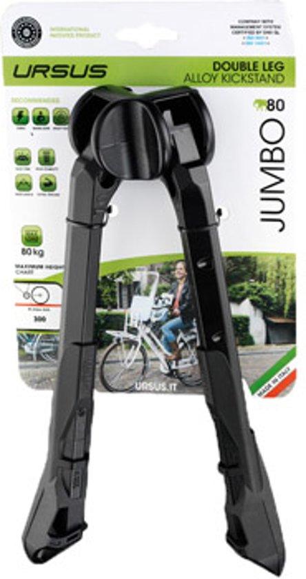 Ursus Jumbo 80 - Fietsstandaard - 26 inch -  Alu - 80 kg - Tweepoot - Zwart