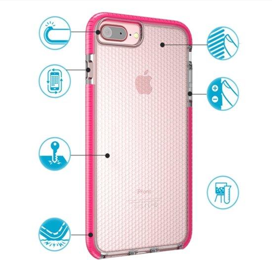 Let op type!! Voor iPhone 8 Plus & 7 Plus & 6 Plus Basketbal Texture Anti-collision TPU back cover beschermhoes (paars)