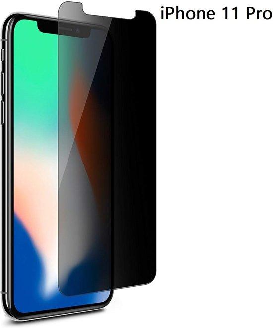 Ntech Apple iPhone 11 Pro Privacy Screenprotector Glass Anti Spy
