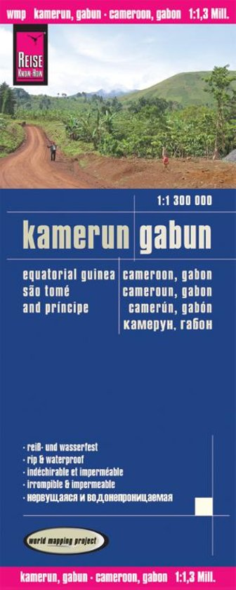 Reise Know-How Landkarte Kamerun, Gabun (1:1.300.000)