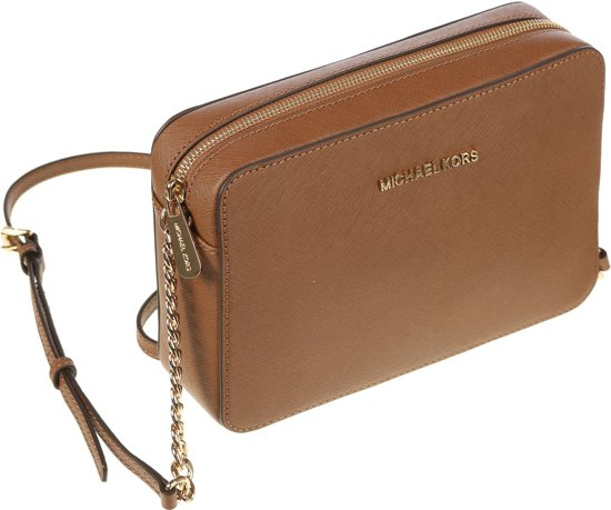 Michael Kors Jet set Travel Dames Crossbodytas Bruin