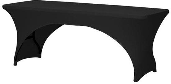 Toolland - Campingtafelhoes - Buffettafel hoes -180 x 75 cm - Zwart
