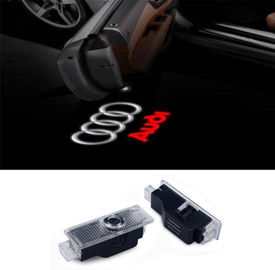 bol.com | Logo deur projector geschikt voor Audi - 2 stuks