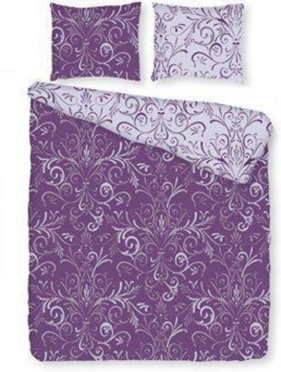 Romanette Olbia dekbedovertrek - Paars - eenpersoons (140x200/220 cm + 1 sloop)