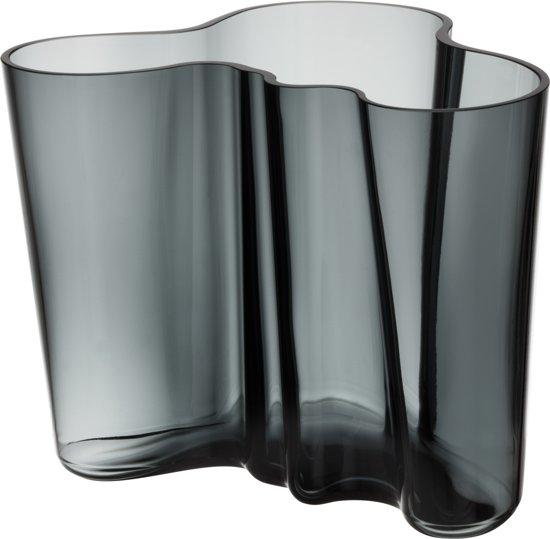 Iittala Aalto Vaas - 16 cm - Donkergrijs