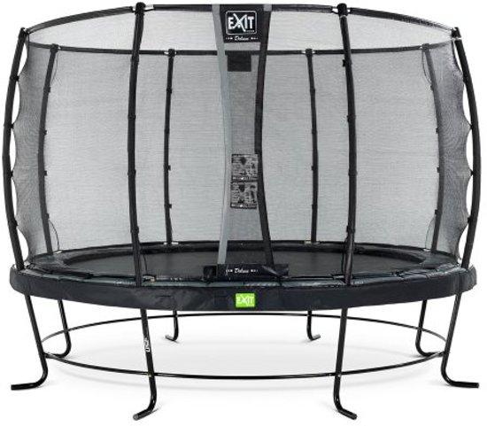 EXIT Elegant trampoline ø366cm met veiligheidsnet Deluxe - zwart