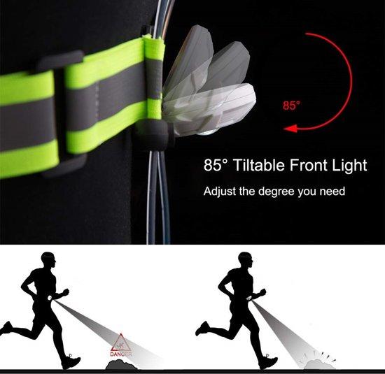 Reflecterend vest met LED licht - Hardloopvest - Hardloopverlichting - Veiligheidsvest - Unisex