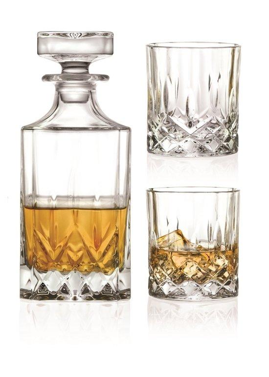 RCR Opera Whiskey Karaf - Incl. 2 Glazen - Kristalglas