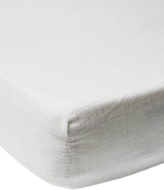 Meyco hoeslaken wieg hydrofiel wit 40x80/90 cm