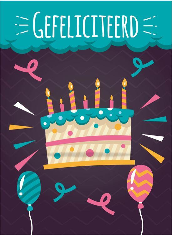 Kaart Verjaardag.Gefeliciteerd Kaart Verjaardag Kaart Cadeau Kaart 10 Stuks