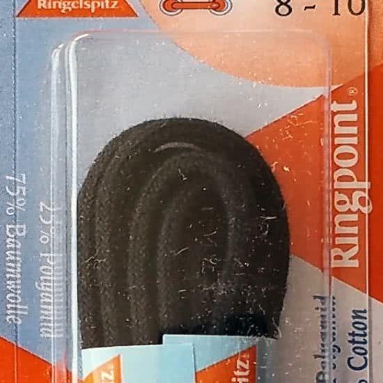 2.5 mm x 75 cm Zwart - Dunne ronde schoen veter 75% katoen