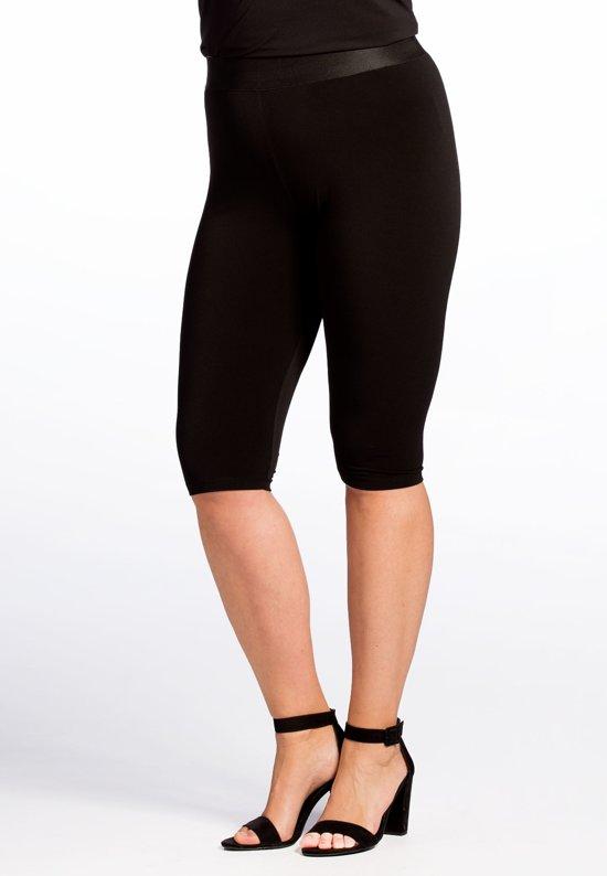5f3efbdcee4 Yoek | Grote maten - dames fietsbroek trend slim fit - zwart