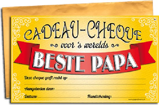 Paperdreams - Gift Cheque - Papa - 34 x 20 cm
