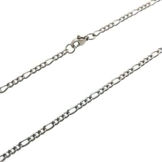 Figaro ketting-45cm-3mm-staal-zilverkleurig-heren-dames