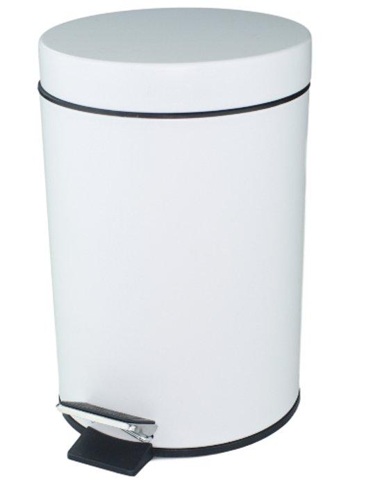 Zeer bol.com | Pedaalemmer - Wit - 3l - 25x16.5cm QA14