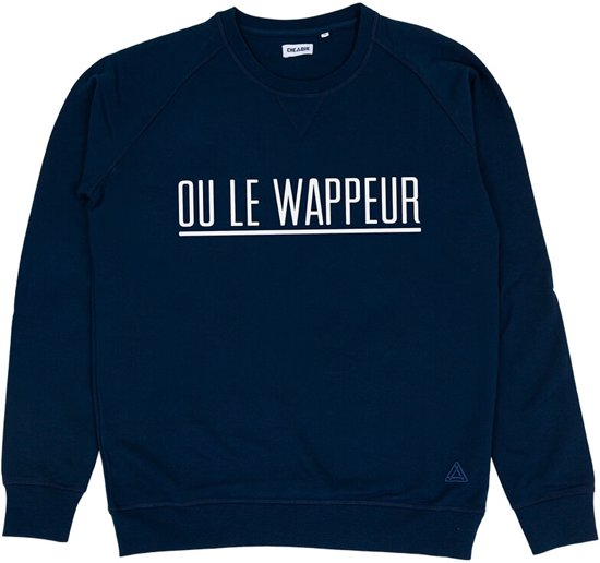OU LE WAPPEUR STREEP DONKERBLAUW SWEATER
