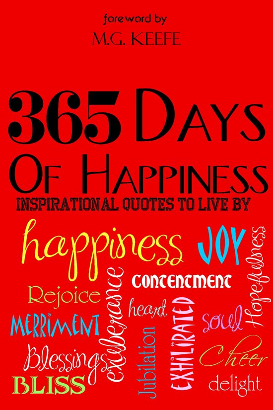 Bolcom 365 Days Of Happiness Inspirational Quotes To Live By