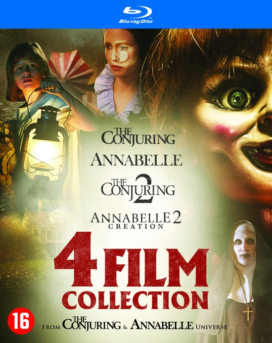 DVD cover van Annabelle 1 + 2 & The Conjuring 1 + 2 (Blu-ray)