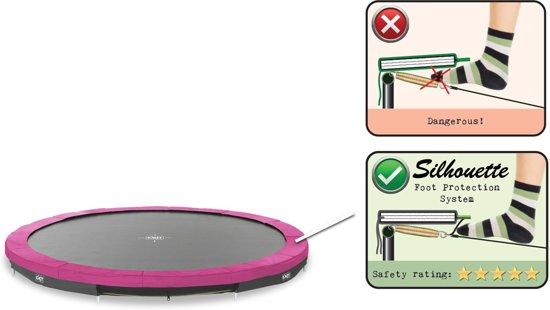 EXIT Silhouette inground trampoline ø366cm - roze